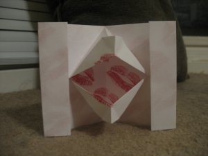"Origami Kissing Lips, aka ""Chuckles"""