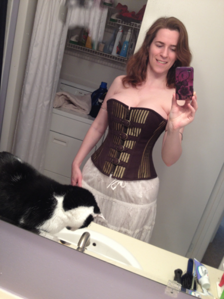Am I showing off the cat or the corset? You decide.