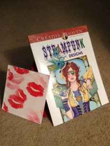 My steampunk and kissy presents from Karen!